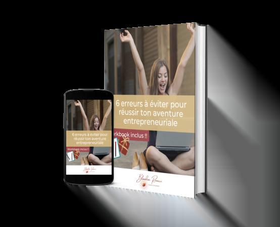 Visuel guide les 6 erreurs à éviter pour réussir ton aventure entrepreneuriale - Blandine RENUCCI